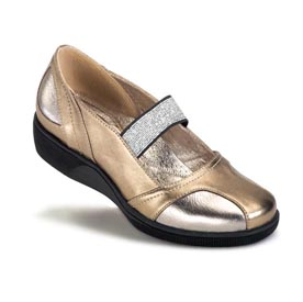 Gravity Defyer Natalie Gold Silver Shoes