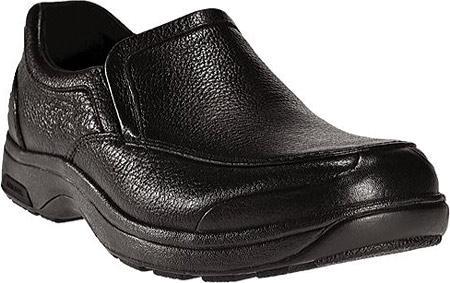 Battery Park Slip-On Black Polishable Leather