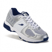 Gravity Defyer Ladies Ballistic Silver Navy Shoes